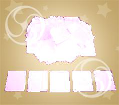 Конфетти полипропиленовое квадратное белое (CONFP11WH)
