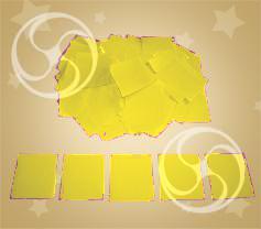 Конфетти полипропиленовое квадратное желтое (CONFP11YL)