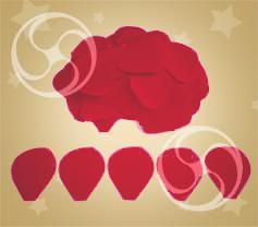 Конфетти полипропиленовое лепестки розы красные (CONFP05RD)