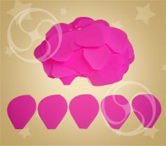 Конфетти полипропиленовое лепестки розы розовые (CONFP05PK)