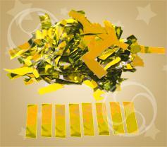 Конфетти металлизированное прямоугольное золотистое (метафан)