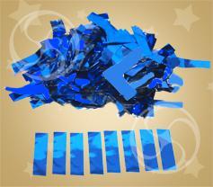 Конфетти металлизированное прямоугольное синее (метафан) (CONFM10DB)