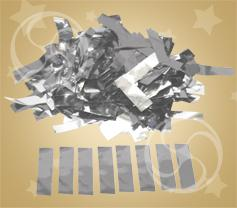 Конфетти металлизированное прямоугольное серебристое (метафан) (SR-12)