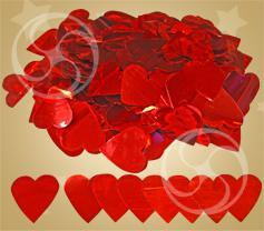 Конфетти металлизированное сердечки красные (RH-12)
