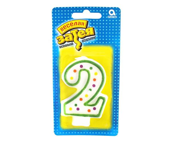 Тортовая свеча цифра '2'