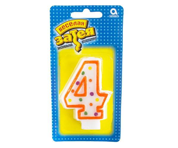 Тортовая свеча цифра '4'