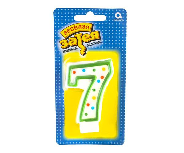 Тортовая свеча цифра '7'
