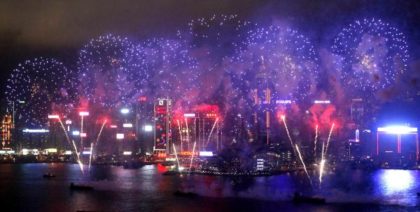 Фейерверк в китае новый год